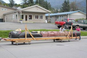 Totem Pole on parade
