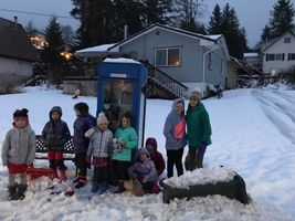 Girl Scouts give to Little Free Library